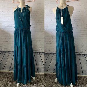 Lovestitch Smocked Waist Maxi Dress NWT